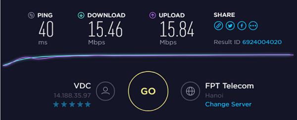 Kiểm tra tốc độ mạng online bằng SpeedTest