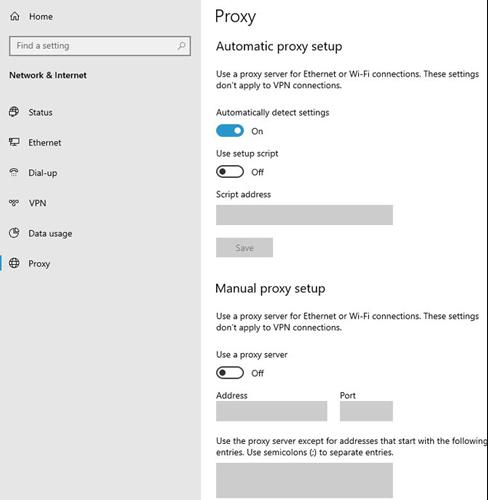 hướng dẫn cài đặt proxy server