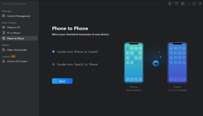 App chuyển dữ liệu từ iPhone sang iPhone
